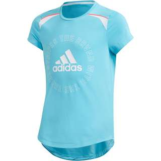 adidas Funktionsshirt Kinder bright cyan/white