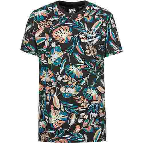 Superdry T-Shirt Herren black aop