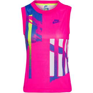 Nike Court Slam Funktionstank Damen pink foil-hot lime-white-sapphire