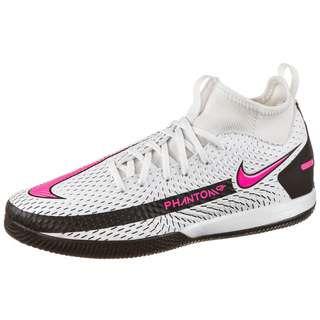 Nike JR PHANTOM GT ACADEMY DF IC Fußballschuhe Kinder white-pink blast-black