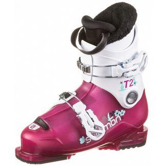 Salomon T2 RT Skischuhe Kinder rose violet translucent