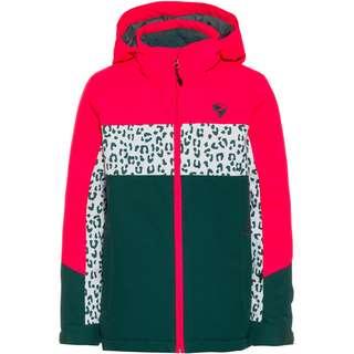Ziener Pelin Skijacke Kinder spruce green-neon pink