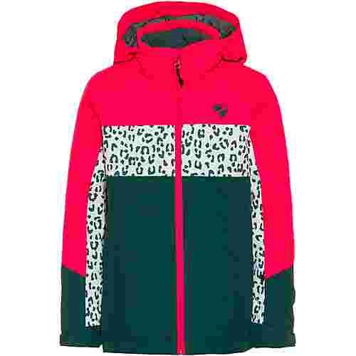 Ziener Pelin Skijacke Wassersäule 10.000mm Skijacke Kinder spruce green-neon pink