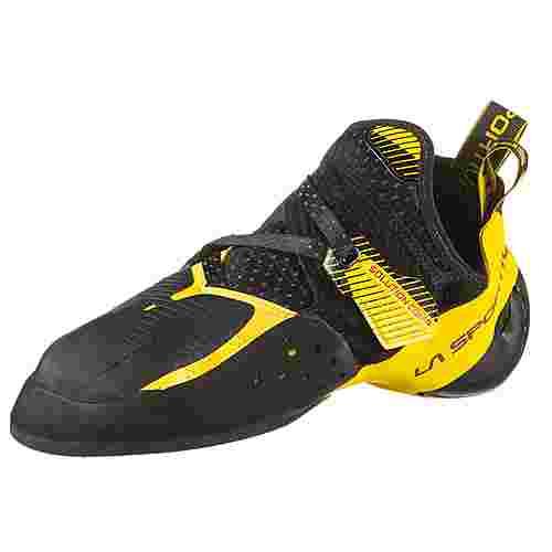 La Sportiva Solution Comp Kletterschuhe Herren black-yellow