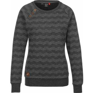 Ragwear Daria Zig Zag Sweatshirt Damen grau/meliert