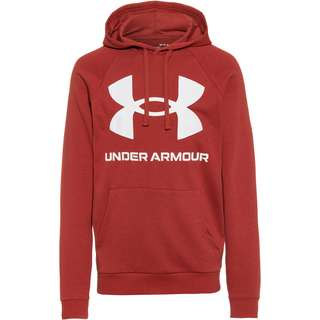 Under Armour Rival Hoodie Herren cinna red-onyx white