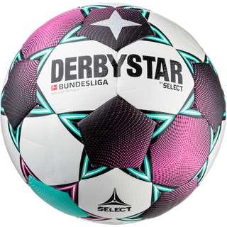 Derbystar BL Brillant Replica Fußball weiß pink grün