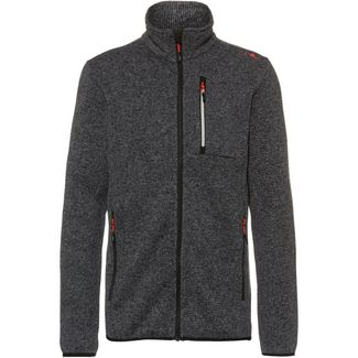 CMP Strickfleece Herren grey-antracite-nero