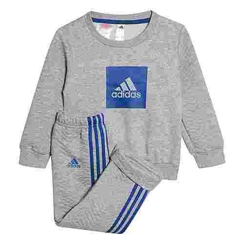 adidas Warm Jogginganzug Trainingsanzug Kinder Medium Grey Heather / Royal Blue