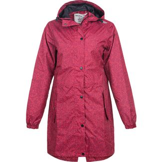 Weather Report ALESSA PRINTED RAIN JACKET Regenjacke Damen 4136 Tibetan Red
