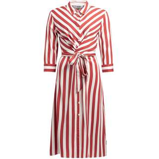 Khujo ROSANA Kurzarmkleid Damen rot-weiß gestreift