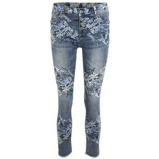 Blue Monkey Alexis 10569 Straight Fit Jeans Damen blau