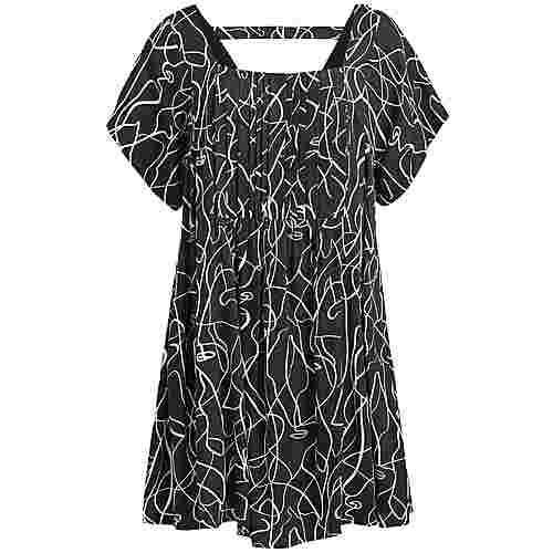 Khujo SATURNIA Kurzarmkleid Damen schwarz-weiß