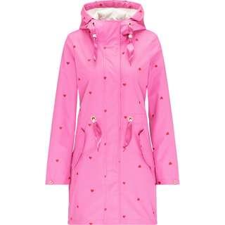 MYMO Regenjacke Damen herzchen AOP pink