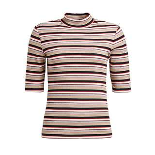 Khujo FEIPI T-Shirt Damen beige mehrfarbig gestreift