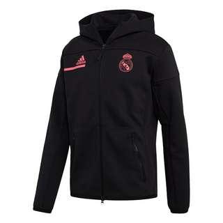 adidas Real Madrid Anthem Jacke Sweatjacke Herren Black / Spring Pink