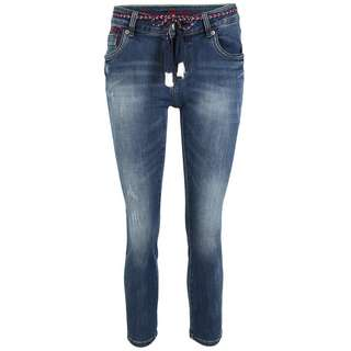 Blue Monkey Cherry 10499 Straight Fit Jeans Damen blau