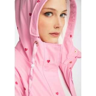 MYMO Regenjacke Damen herzchen AOP rosa