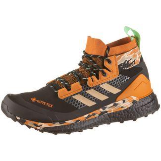 adidas GTX® Free Hiker Wanderschuhe Herren core black-hemp-glory mint