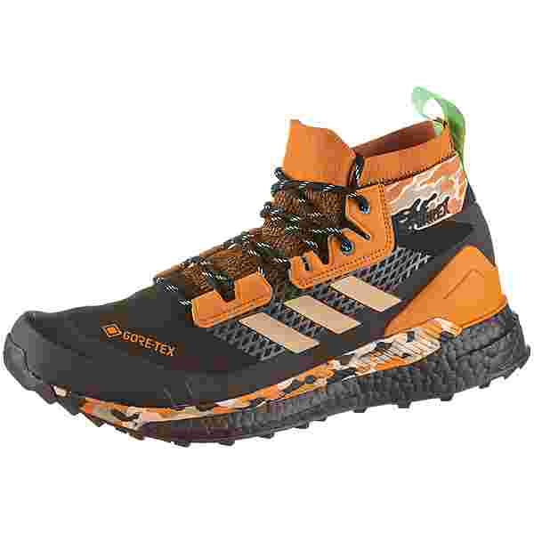 adidas GTX Free Hiker Wanderschuhe Herren core black-hemp-glory mint