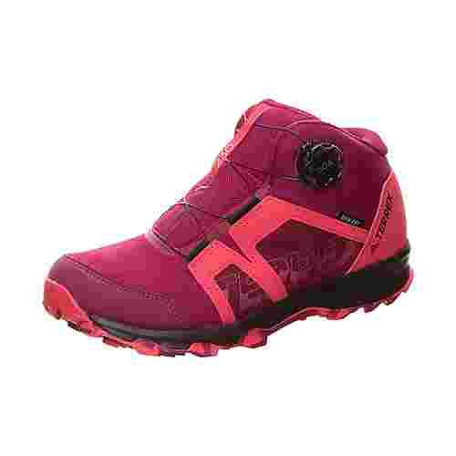 adidas TERREX Boa Mid GTX Laufschuhe Kinder weinrot / pink