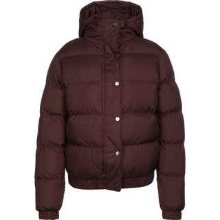 Urban Classics Hooded Puffer Winterjacke Damen weinrot