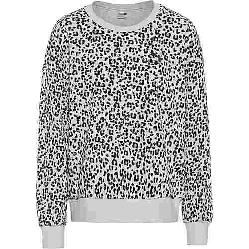 PUMA Classics Sweatshirt Damen vaporous gray-animal aop