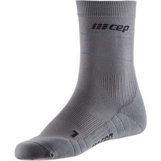 CEP Reflective Mid Cut Laufsocken Herren grey