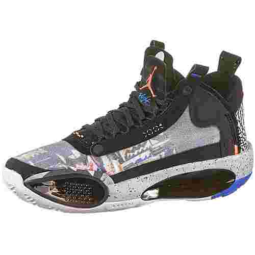 Nike Air Jordan Sneaker Kinder black-laser orange-white-flash crimson
