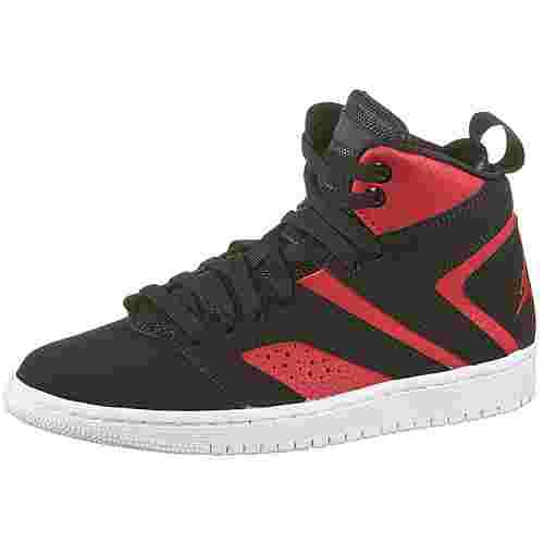 Nike Boys' Jordan Flight Legend Sneaker Kinder black-black-gym red-white