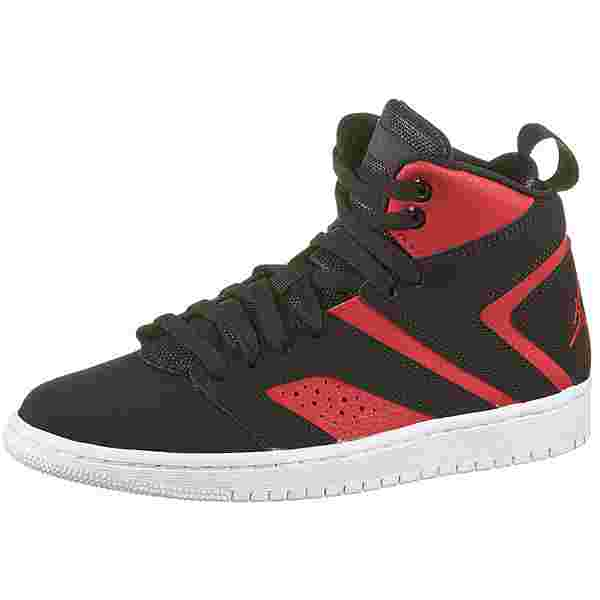 Nike Jordan Flight Legend Sneaker Kinder black-black-gym red-white