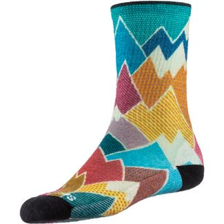 Smartwool Mountain Print Crew Wandersocken Damen multi color