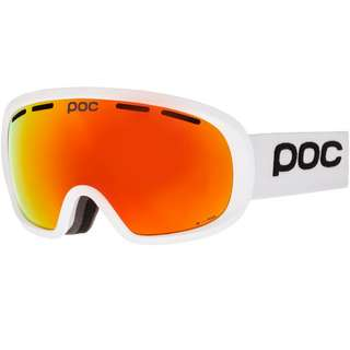 POC Fovea Mid Clarity Skibrille hydrogen white-spektris orange
