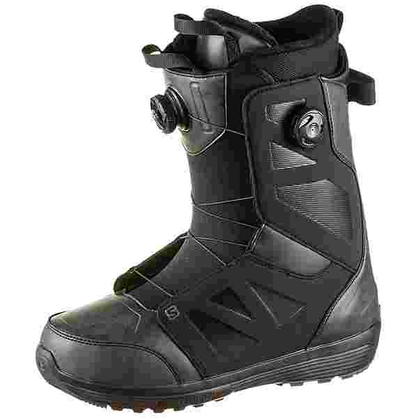 Salomon LAUNCH BOA SJ BOA Snowboard Boots Herren black-turcoise