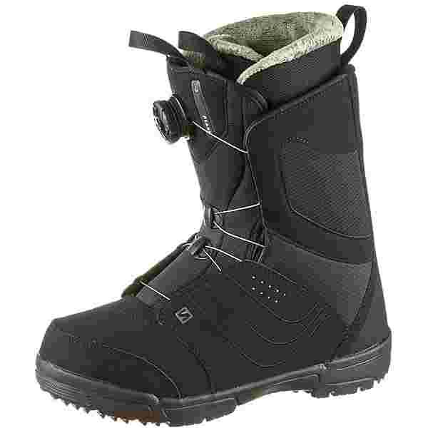 Salomon PEARL BOA Snowboard Boots Damen black-turcoise