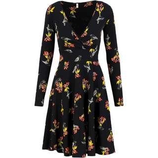 Blutsgeschwister Autumn Saloon Robe Langarmkleid Damen berrie birds