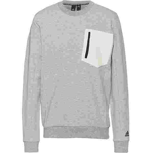 adidas Must Haves BOS Sweatshirt Herren medium grey heather