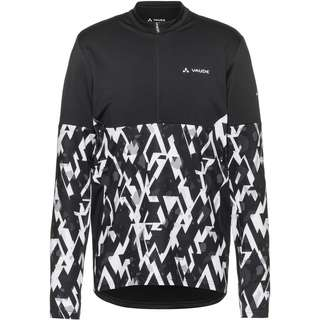 VAUDE Men's Virt QZip LS T-Shirt Fahrradtrikot Herren black-white