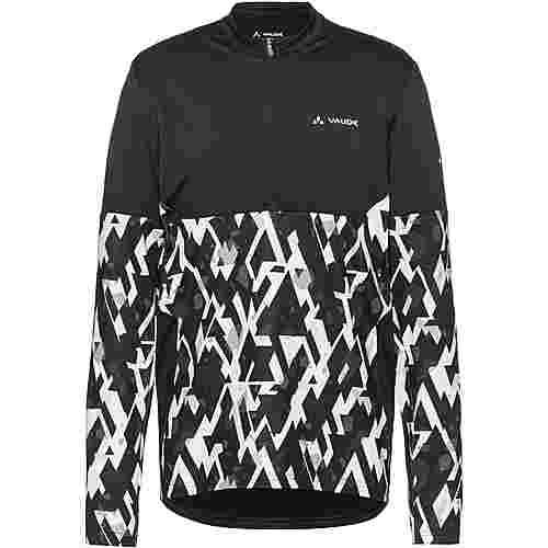 VAUDE Men's Virt QZip LS T-Shirt Trikot Herren black-white