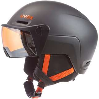Uvex hlmt 700 visor Skihelm dark slate orange