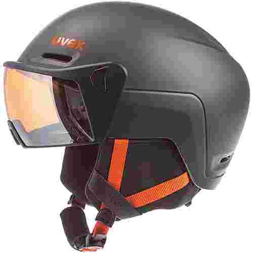 Uvex hlmt 700 visor Skihelm dark slate orange
