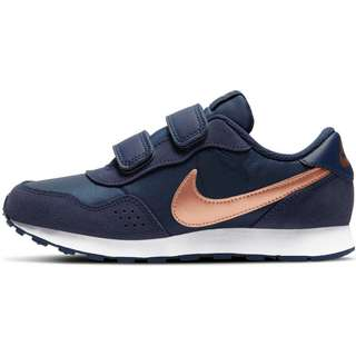 Nike MD Valiant Sneaker Kinder midnight navy-mtlc red bronze-white