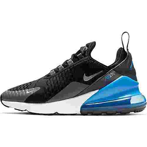 Nike Air Max 270 GS Sneaker Kinder black-metallic silver-lt photo blue