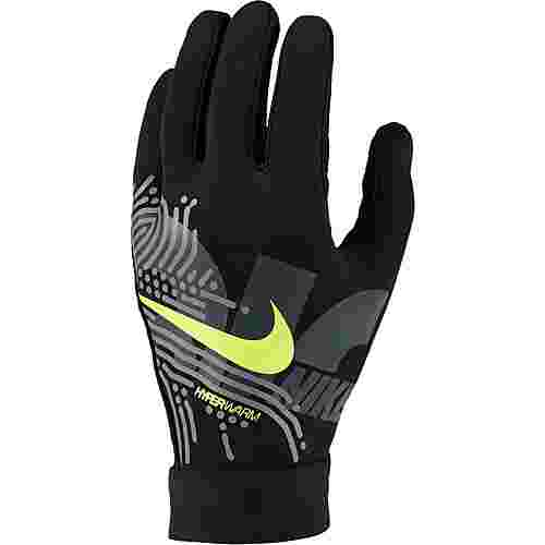 Nike Academy Hyperwarm Fleece Handschuhe black-white-volt