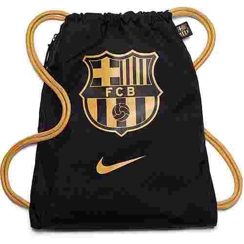 Nike FC Barcelona Turnbeutel black-truly gold-truly gold