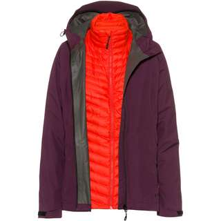 Mammut GORE-TEX® Convey 3in1 Outdoorjacke Damen blackberry-spicy