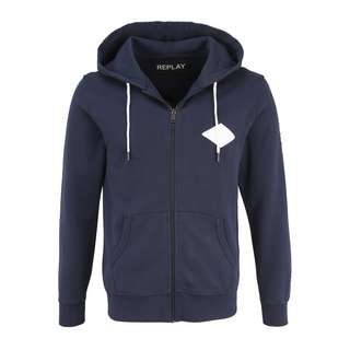 REPLAY mit Kapuze Sweatjacke Herren navy