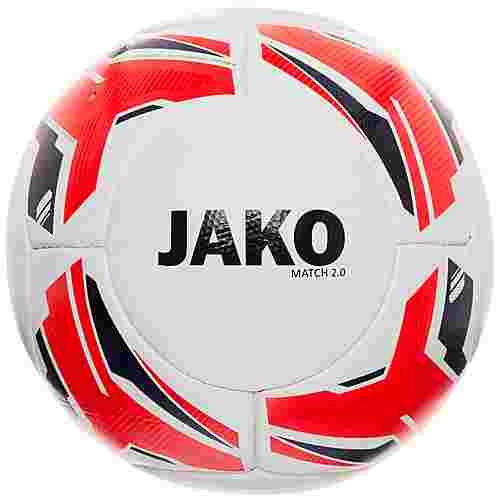 JAKO Match 2.0 Fußball weiß / rot