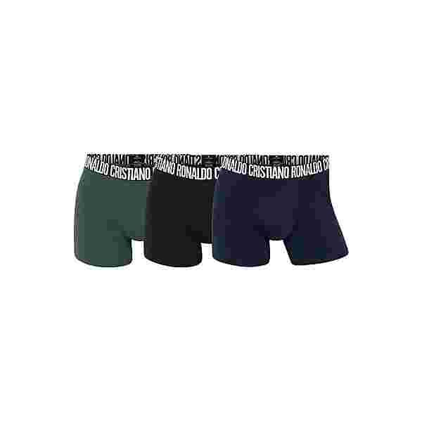 CR7 Cristiano Ronaldo CR7 Underwear Boxer Herren Schwarz/Navy/Grün (670)