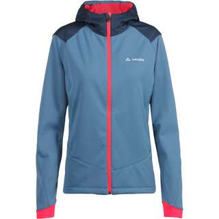 VAUDE Women's Qimsa Softshell Jacket Fahrradjacke Damen blue gray